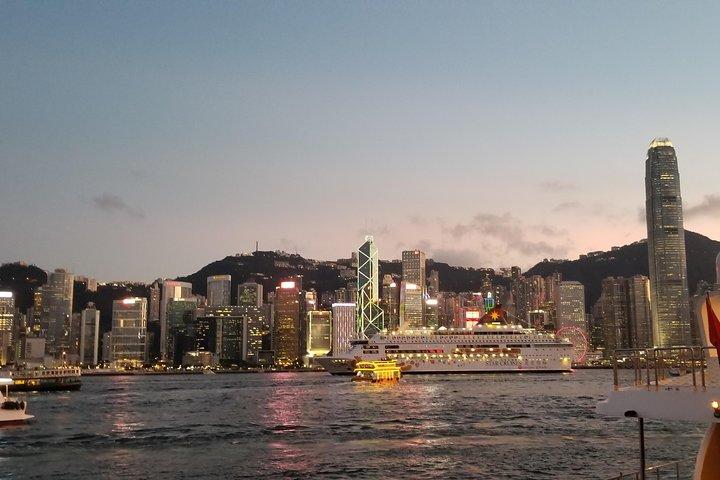 Symphony of Lights Hong Kong Harbor Night Cruise with Unlimited Drinks, Hong Kong, CHINA