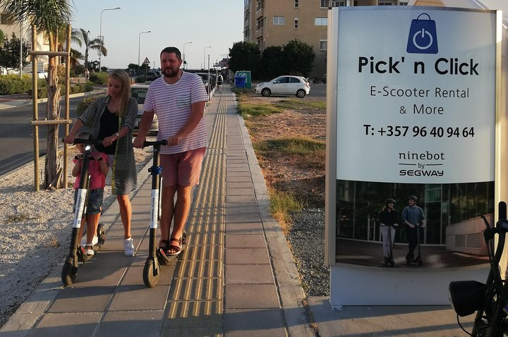 Drive around the city with Segway Ninebot electric scooter, Larnaca, CHIPRE