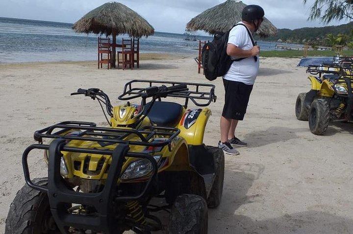 ATV, Zipline, Sloth Park and Beach, Roatan, Honduras