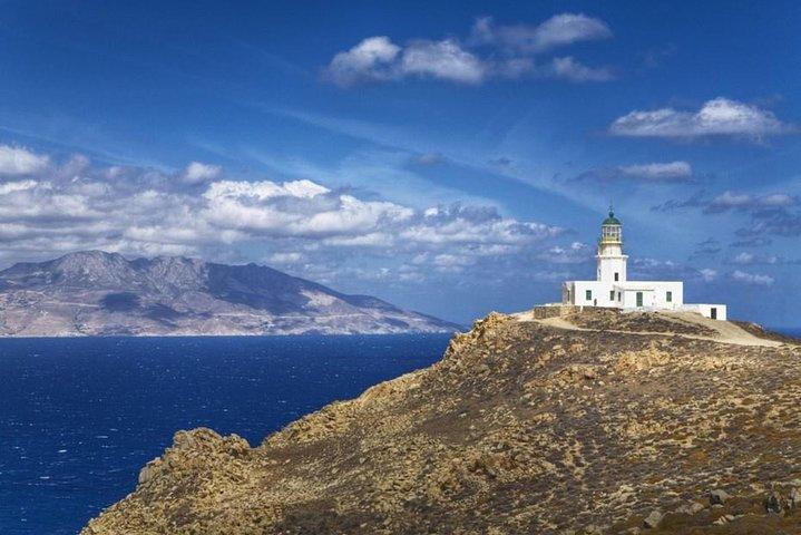 Sunset Lighthouse Armenistis, Miconos, GRECIA