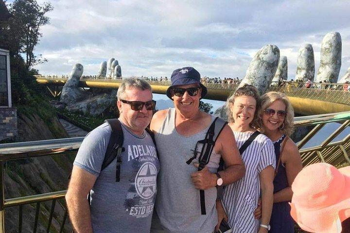 Shore Excursion from TIEN SA port DA NANG to visit Ba Na Hills Golden Bridge, Hoi An, VIETNAM