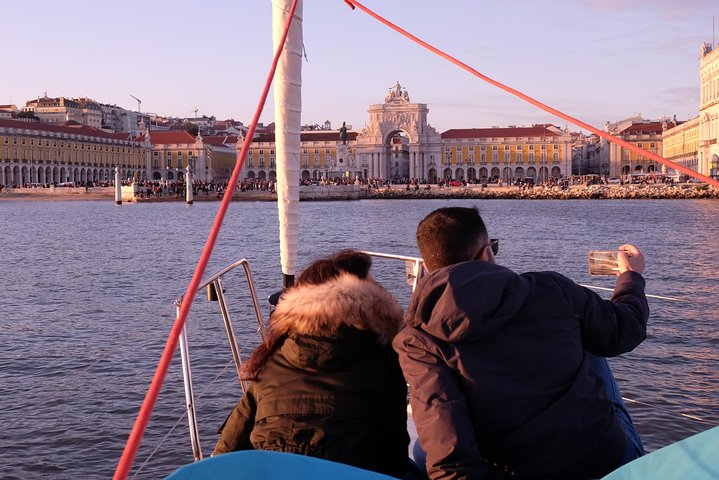 Relaxing Time in a sailboat on a day or sunset tour along the Tagus, Lisboa, PORTUGAL