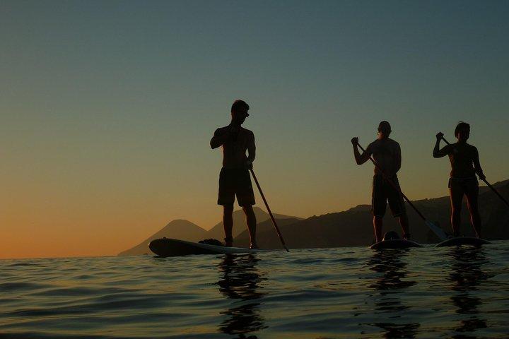 SUP into the sunset on Vulcano Island, Islas Eolias, ITALIA