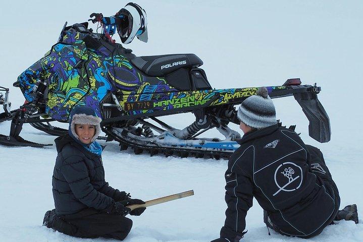 Snowmobile safari in the mountain plateau of Finnmarksvidda, Alta, NORWAY