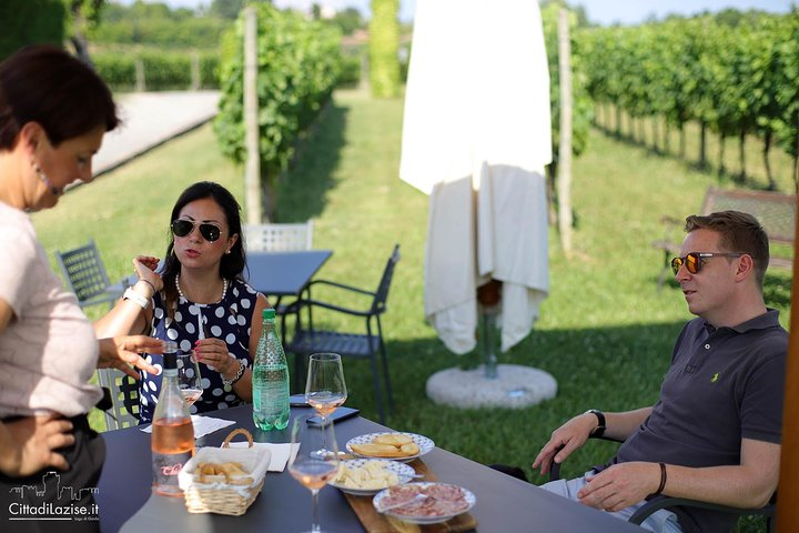 Wine and food tasting in the vineyards in Lazise, Lago de Garda, ITALY