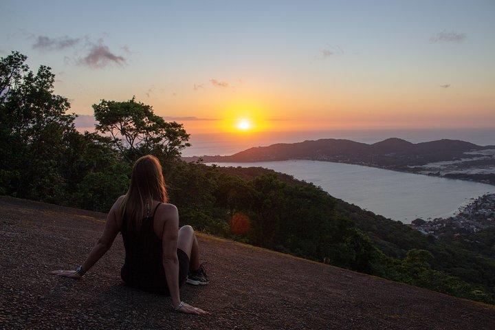 Nascer do sol e fotos no cartão postal Lagoa Conceição, Florianopolis, BRASIL