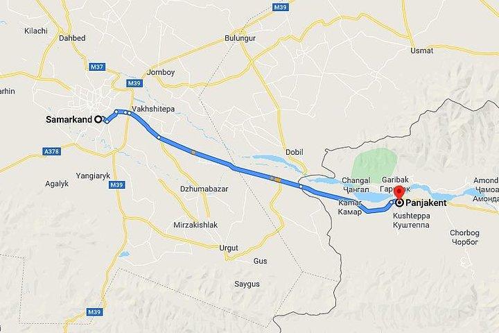 Samarkand - Panjakent, Tajikistan Transfer (60 km), Samarcanda, UZBEKISTAN