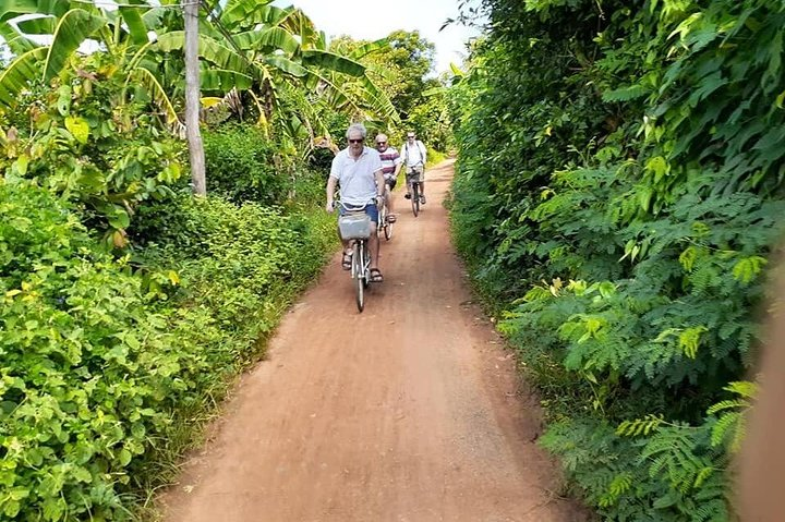 Half day morning bicycle tour to Explore local livelihood and test local snacks, Battambang, CAMBOYA