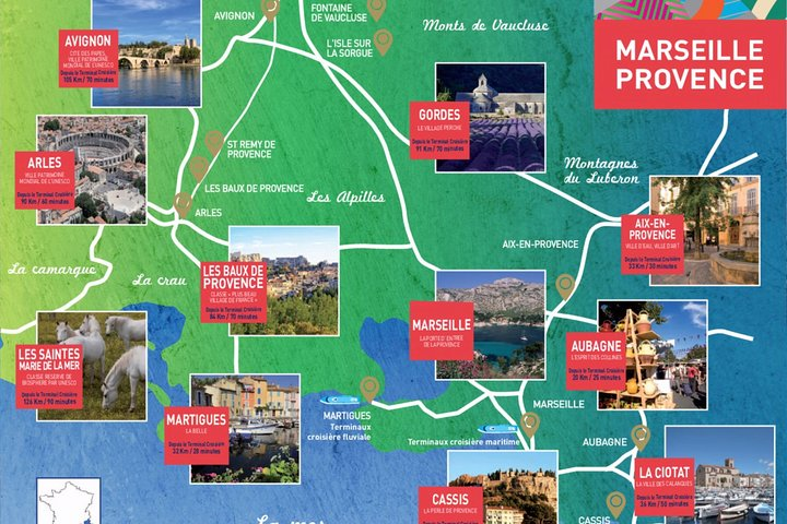 Provence: Aix en Provence, Cassis and Marseille Private Tours, Marsella, FRANCIA