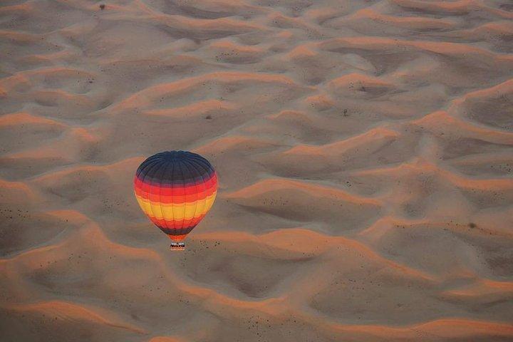 Hot Air Balloon Ride over Dubai Desert, Breakfast, Falcons & 1950s Land Rover, ,