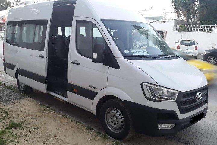 Monastir private minibus arrival & departure airport transfer to Hammamet, Monastir, TUNEZ