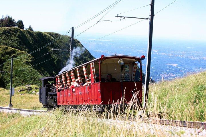 Roundtrip to the Monte Generoso by cogwheel train from Lake Lugano, Lugano, SUIZA