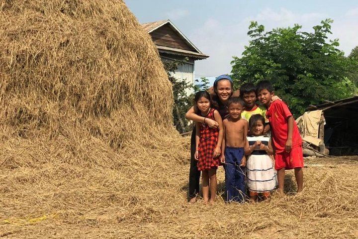 Afternoon tour by tuk tuk to bamboo train,countryside,killing cave and bat cave, Battambang, Cambodia