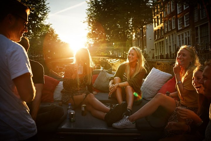 Amsterdam Small-Group, Guided Evening Canal Cruise with Bar on Board, Amsterdam, HOLANDA