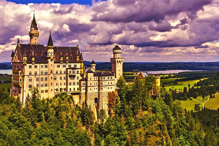 Neuschwanstein Castle and Highline 179 From Füssen, Fuessen, GERMANY