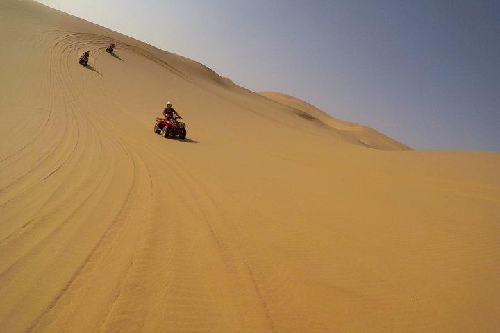 3hr COMBO - 1hr Lie-down Sandboarding and 2hr Quad Bike ride, Swakopmund, NAMIBIA