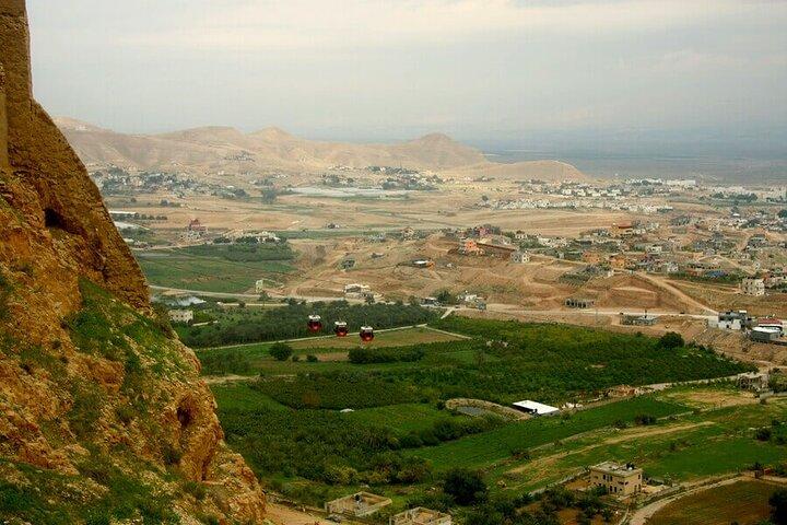 Jericho, the Jordan river & the Dead Sea from Jerusalem, Jerusalen, ISRAEL