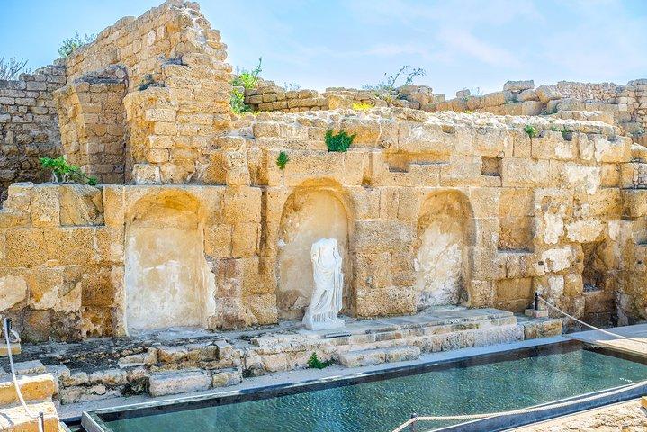 Unforgettable Tour to Caesarea, Haifa, Acre and Rosh HaNikra from Tel Aviv, Herzliya, ISRAEL