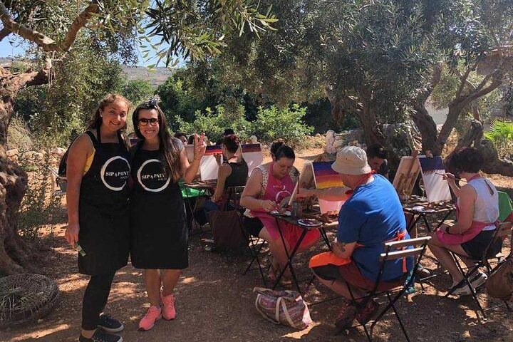 Painting Experience with Wine- outdoor, Mellieha, MALTA
