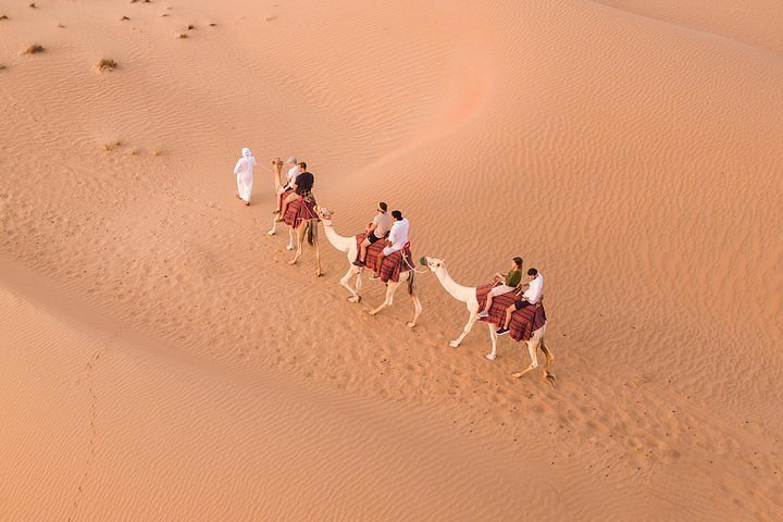 Amazing Hot Air Balloon With Beautiful Desert Sunrise View, ,