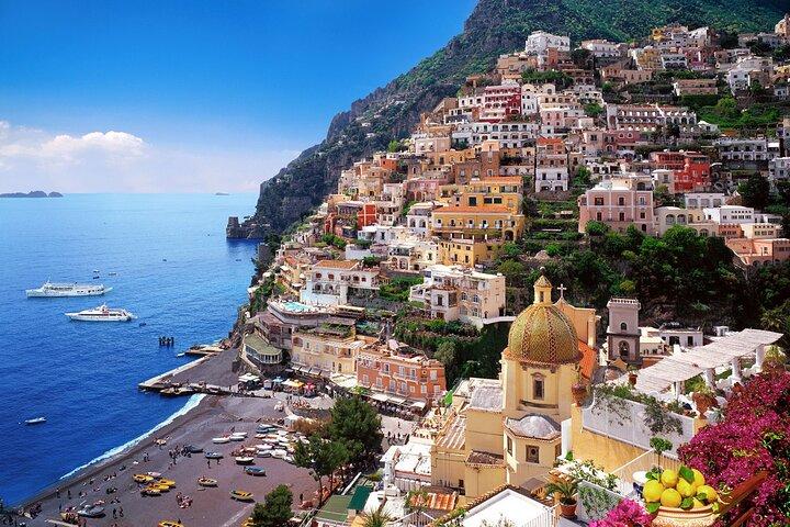 Small Group Sorrento Coast and Amalfi Coast boat tour with Local Host on board, ,