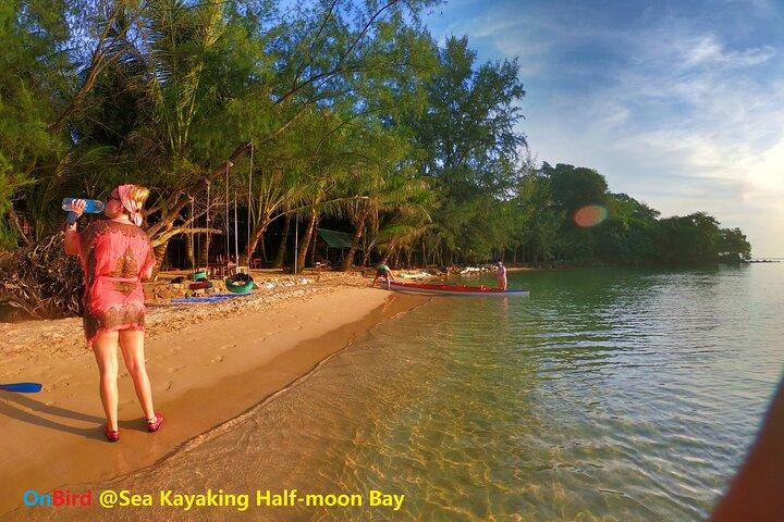 [PRIVATE CHARTER] SEA-KAYAKING along HALF-MOON BAY & SUNSET DRIFTING & DINNER, Phu Quoc, VIETNAM