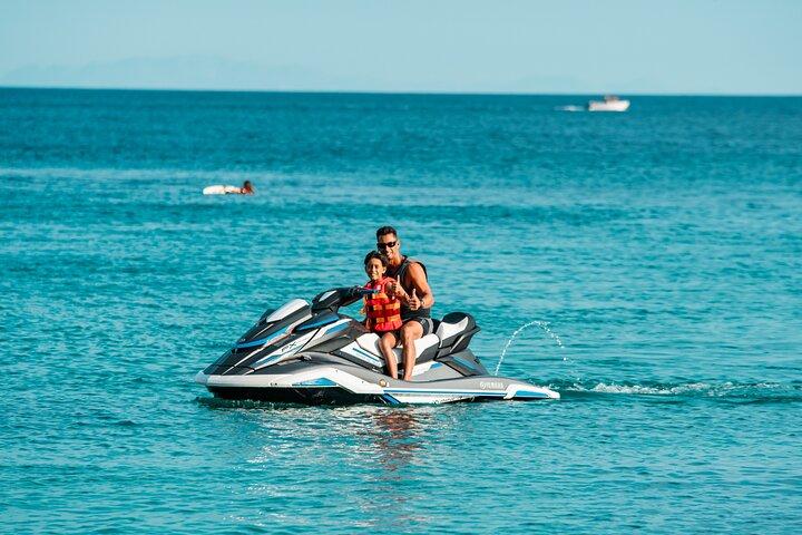 Jet Ski Adventure in Super Paradise Beach, Mykonos, Miconos, GRECIA
