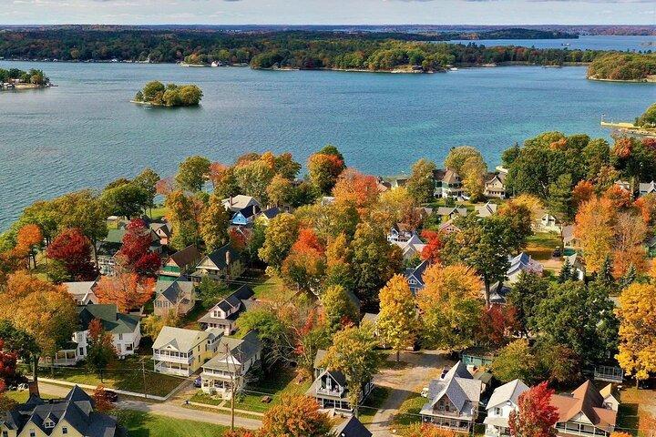 Autumn Sunset Cruise in the 1000 Islands, Clayton, NY, UNITED STATES