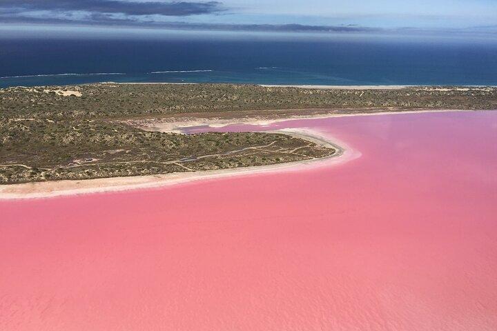 70-minute Pink Lake Scenic Flight, Geraldton, AUSTRALIA