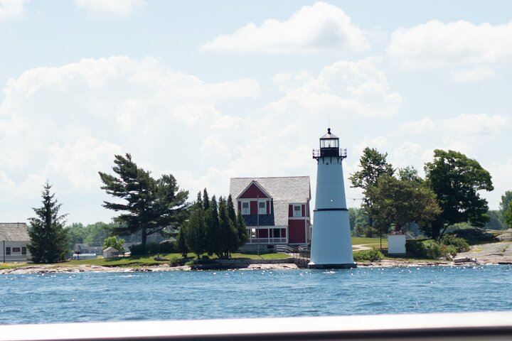St Lawrence River - Rock Island Lighthouse on a Glass Bottom Boat Tour, Clayton, NY, UNITED STATES