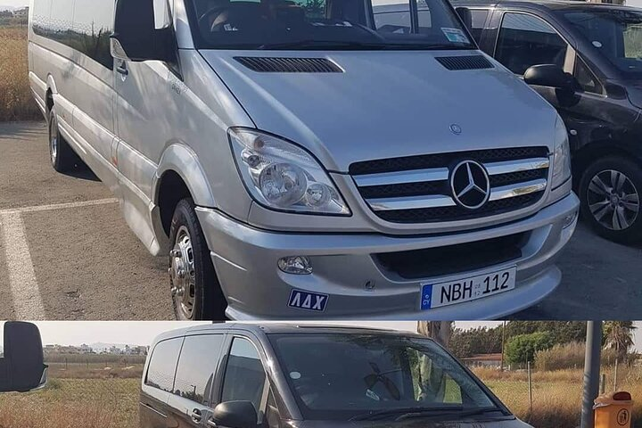 Minibus private transfer from LCA airport to or from Ayia Napa 1-8 travellers, Larnaca, CHIPRE