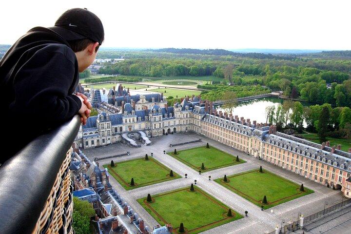 Paseo en globo en Fontainebleau, Paris, FRANCIA
