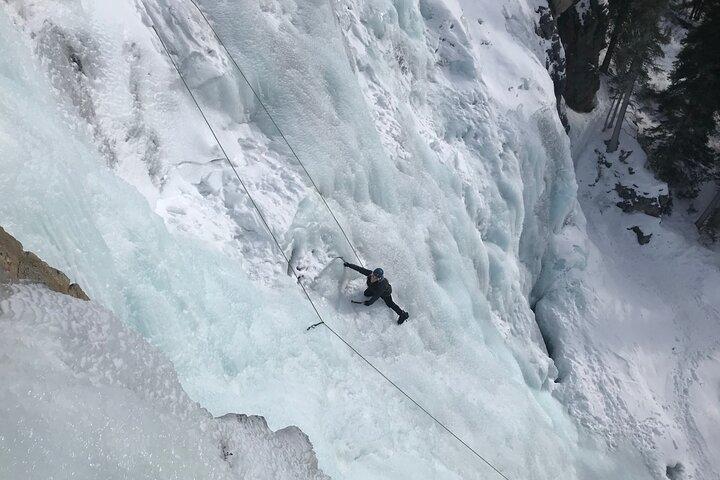Ice Climbing in Maligne Canyon, Jasper, CANADA