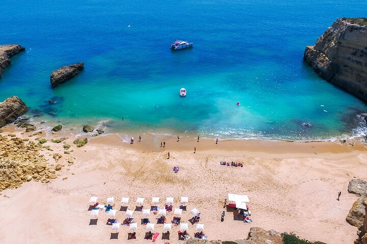 Albufeira Caves and Coastline Cruise with Beach BBQ, Albufeira, PORTUGAL