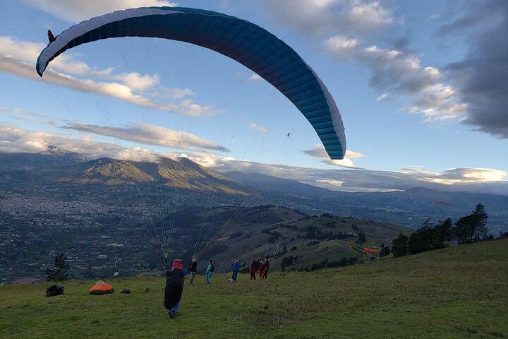 Parapente y Canopy (Zip Line) 1300 metros, Baños, ECUADOR