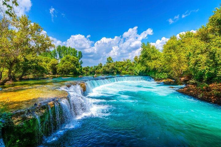 Manavgat River Cruise & Waterfall & Bazaar Visit - Drinks inclusive onboard, ,